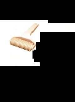 RULLO LOSANGHE IN MATERIALE PLASTICO PER ALIMENTI , Ø 4,5 x 5 cm , confezione 1 pz .