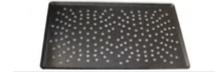 PASTICCERIA TEGLIA ALLUMINIO BASSA FORATA con rivestimento antiaderente CHOC,  sp 1,5 mm , 53 x 32,5 x H 1 cm ,  confezione 1 pz .