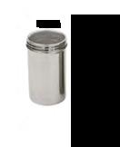 SPARGI ZUCCHERO A RETE IN INOX , Ø 7 x H 10 cm , confezione 1 pz .