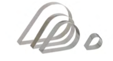 PASTICCERIA INOX FORME GOCCIA ,  tondo Ø 16 cm , 23 x 14,5 x H 4 cm , sp 1 mm , confezione 1 pz .