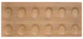 JOMON , JO 12 BAMBOO , 52 x 22 x 1 cm ,  scatola da 1 pz.