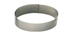 PASTICCERIA INOX FORME OVALI ,  Ø 16 cm , 21 x 14 x H 4,5 cm , sp 1 mm , confezione 1 pz .