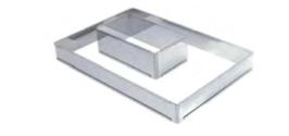 PASTICCERIA INOX FORME RETTANGOLARE ESTENSIBILE , 21,5 x 11,5 x H 7,5 cm ,  confezione 1 pz .