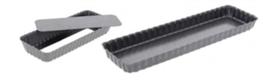 PASTICCERIA TORTIERA RETTANGOLARE CON FONDO MOBILE , 35,6 x 10,2 x H 2,7 cm ,  confezione 1 pz .