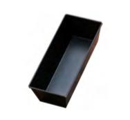 PASTICCERIA TORTIERA RETTANGOLARE PLUMCAKE IN ACCIAIO BLU , 9 x 26 x H 11 cm ,  sp 0,6 mm , confezione 1 pz .