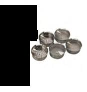 GRIGLIA PER PASSAVERDURA N 5 IN ACCIAIO INOX  Ø 2 mm , confezione 1 pz .