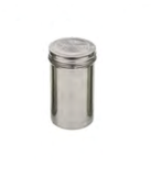 SPARGI ZUCCHERO PICCOLI FORI 1,5 mm IN INOX , Ø 7 x H 13 cm , confezione 1 pz .