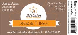 Miel de Tilleul (Crémeux), 500 gr.