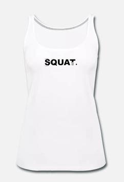 Squat. Tank Top Women white