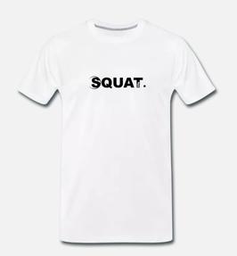 Squat. Premium T-Shirt Man white