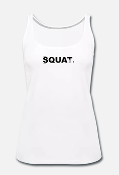 Squat. Tank Top Women white