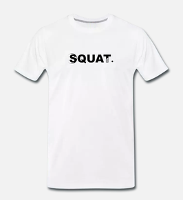 Squat. Premium T-Shirt Man white