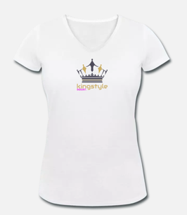 Kingstyle Squat. V- Ausschnitt T-Shirt Women