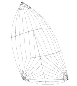 Gennaker (Runner): Größe bis 120m2, einfarbig, in 3 Standardfarben