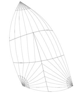 Gennaker (Runner): Größe bis 50m2, einfarbig, in 5 Standardfarben