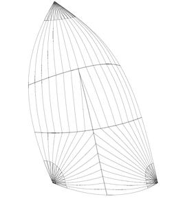 Gennaker (Runner): Größe bis 150m2, einfarbig, in 3 Standardfarben