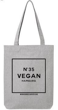 #Vegan35 Tote Bag Heather Grey