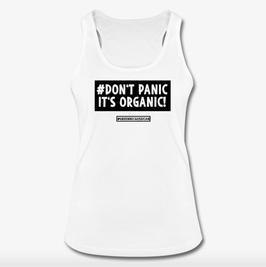 #DontPanic White Women Tank