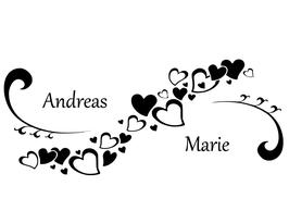 Herzranke mit Namen