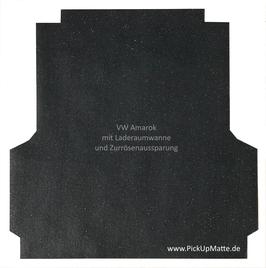 PickUpMatte für VW Amarok, Doppelkabine und Original-Laderaumwanne