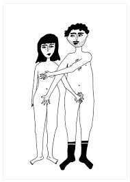 "Postkarte ""NAKED COUPLE"" (Helen B)"