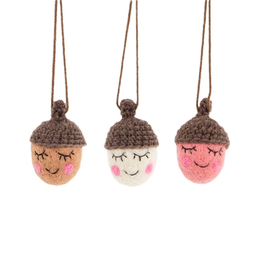 3 Filz Weihnachtshänger HAPPY ACORNS (Sass & Belle)
