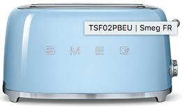 Toaster 4 tranches, Bleu Azur