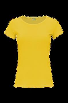 Женская футболка  | желтый