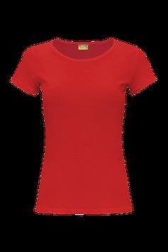 Женская футболка  | красная