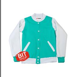 Женская колледж куртка | мятная+белый