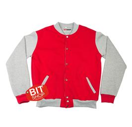 Женская колледж куртка | красная + меланж