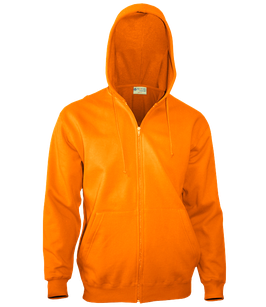 Мужская толстовка худи | оранж на молнии