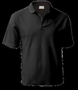футболка поло (черный)