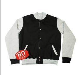 Женская колледж куртка | черная + меланж
