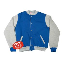 Женская колледж куртка |  синяя+меланж