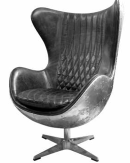 Fauteuil Aviator tournant - forme oeuf