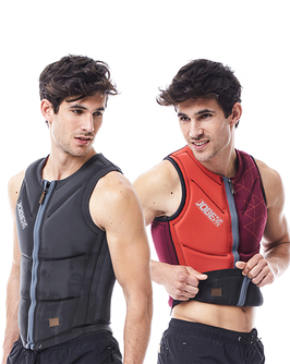 Reversible Comp Vest Men Zipper Red/Black