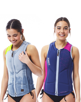 Reversible Comp Vest Women Zipper Pink