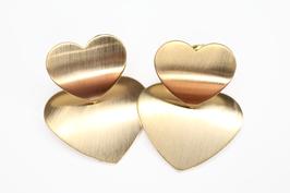 Ohrring golden Hearts