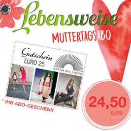 Muttertagsabo inkl. gratis Abogeschenk und 3 Ausgaben zum Nachlesen
