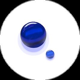Glaskugel blau beruhigend