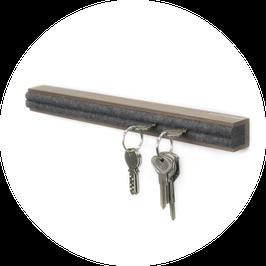 Schlüsselbrett Nussbaum geölt 45 cm