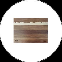 Saas Fee I PanoramaKnife I Holz-Schneidebrett