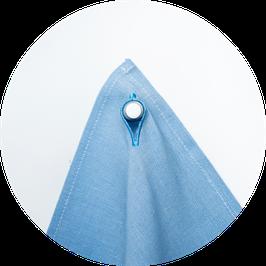 Knopflochtuch hellblau