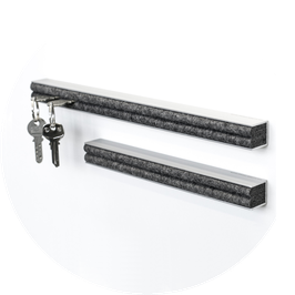 Schlüsselbrett Aluminium natur eloxiert 25 cm