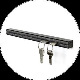 Schlüsselbrett Aluminium schwarz eloxiert 55 cm