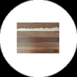 Genfersee I PanoramaKnife I Holz-Schneidebrett