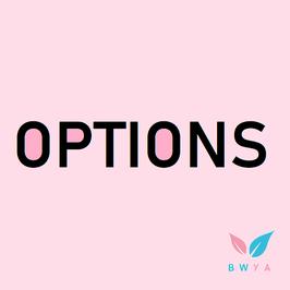 4. OPTIONS SUPPLÉMENTAIRES (facultatif)