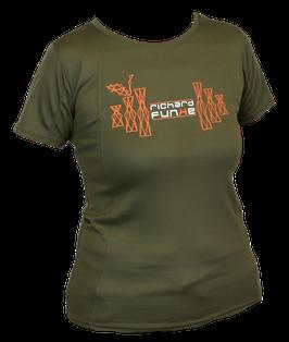 "T-Shirt ""Training"" Damen khaki  mit Wunschlogo"