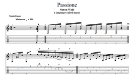 """Passione"" Noten (+TABs)"